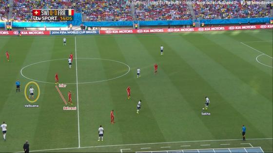 Valbuena s'est glissé entre les lignes à de nombreuses reprises.