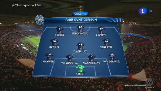 La première surprise côté  parisien réside dans le choix de titulariser David Luiz au milieu de terrain, devant une charnière centrale composée de Thiago Silva et d'un Marquinhos qui revient tout juste de blessure.